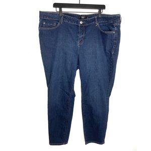 Torrid Dark Wash Curvy Skinny Jeans